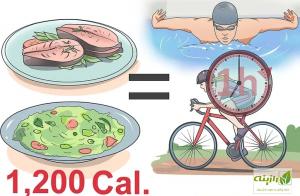ورزش و کالری غذاها