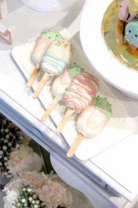 تم تولد دخترانه بستنی چوبی