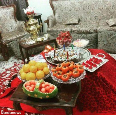 سفره شب یلدای مختصر