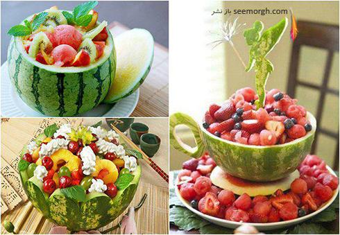 میوه ارایی سفره با هندوانه