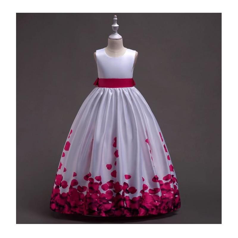 لباس مجلسی دخترانه با گل های صورتی